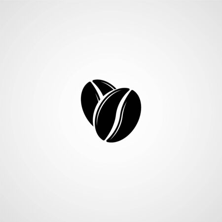 Coffee beans vector icon. Illustration for graphic and web design Vettoriali