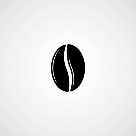 Coffee bean vector icon. Illustration for graphic and web design