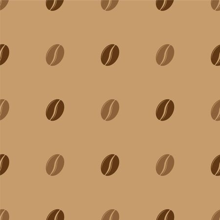 Coffee bean seamless pattern. Vector background Vettoriali