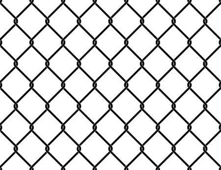 Mesh fence. Seamless pattern. Vector background