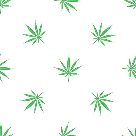Seamless pattern of cannabis leaves. Vector for design and printing