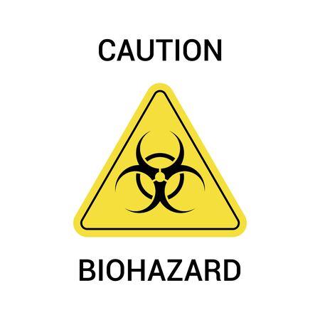 Biohazard symbol, sign of biological threat alert. Vector illustration