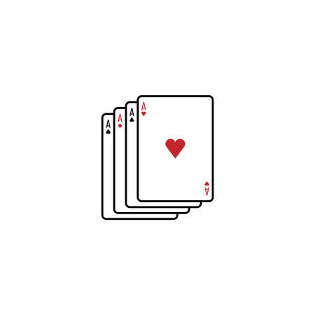 Four aces playing cards icon