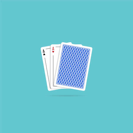 Aces playing cards. Vector illustration in flat style Reklamní fotografie - 153688441