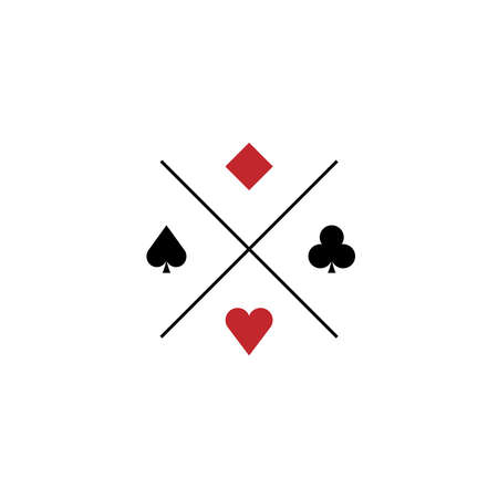 Suit of playing cards. illustration on white background 向量圖像