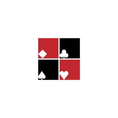 Suit of playing cards. Vector illustration on white background
