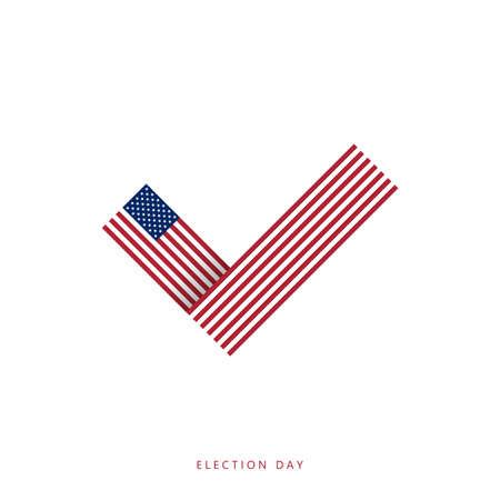 America election day. Vote 2020 in US. Election voting poster. Political election campaign. Vector illustration 向量圖像