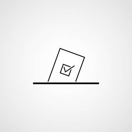 Voting ballot box. Election vote concept. Simple line design. Vector illustration