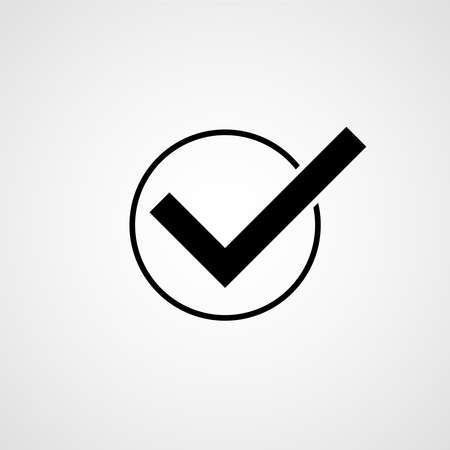 Check box icon for graphic and web design. Vector illustration 向量圖像