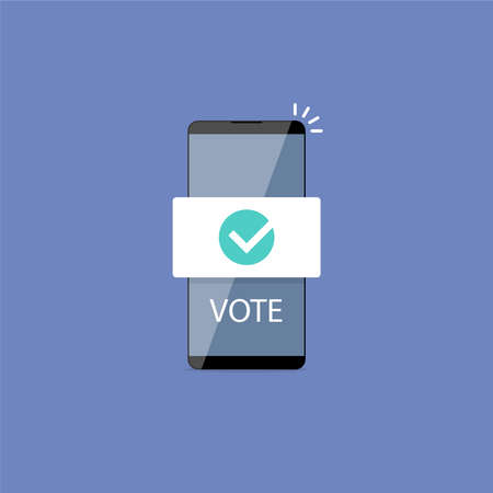 E-voting, election internet system. Concept of online voting