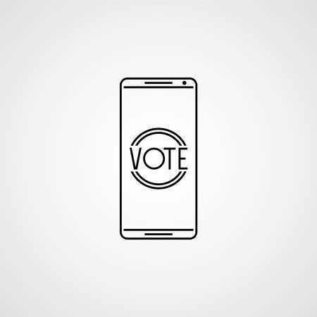 Voting app on the screen. Vector illustration