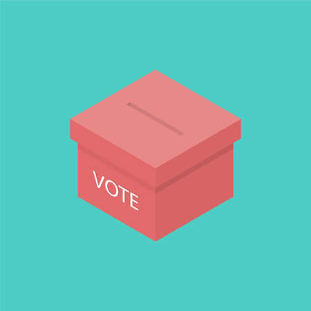 Ballot box isometric icon. Vector illustration