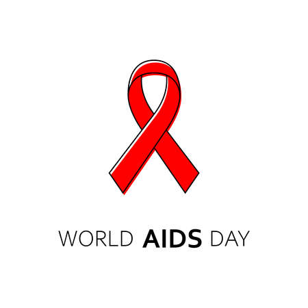 1st December World AIDS Day poster. Vector illustration