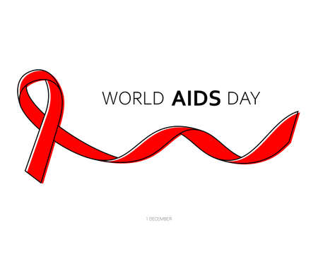 1st December World AIDS Day. Vector illustration 向量圖像