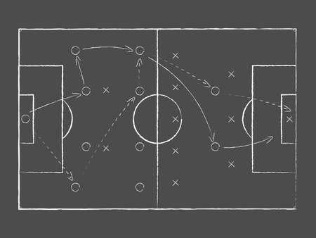 Soccer tactical board. Vector illustration