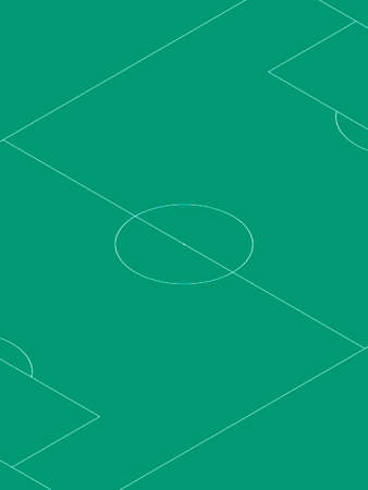 Soccer field, template for your poster. Isometric projection. Vector background