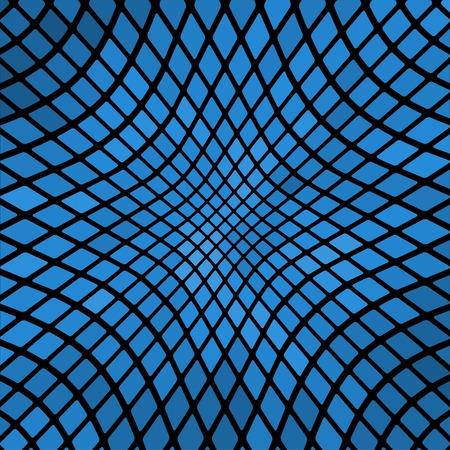 푸른 물결 모양 추상 모자이크 배경