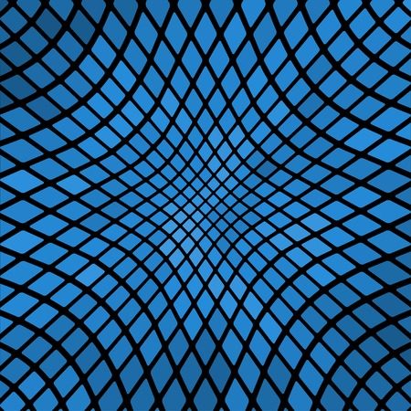 Blue wavy abstract mosaic background