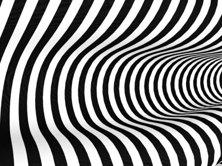 rasterized: Black and white stripes abstract background Stock Photo