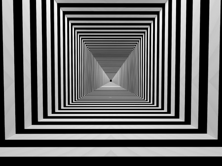 rasterized: Black and white stripes tunnel