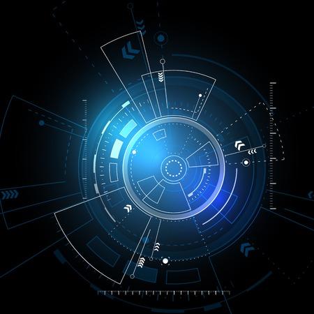 dotykový displej: Sci fi futuristický uživatelské rozhraní. Vektorové ilustrace.