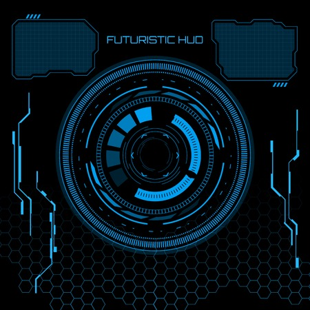 Sci fi futuristische gebruikersinterface. Vector illustratie. Stock Illustratie