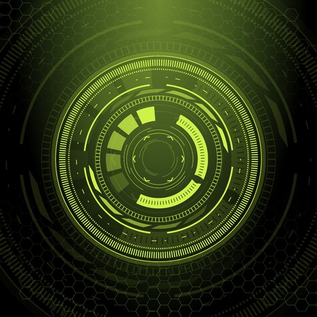 sci: Sci fi futuristic user interface. Vector illustration.