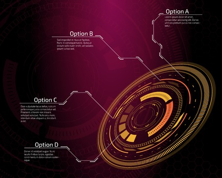 touch screen interface: Sci fi futuristic user interface. Vector illustration.