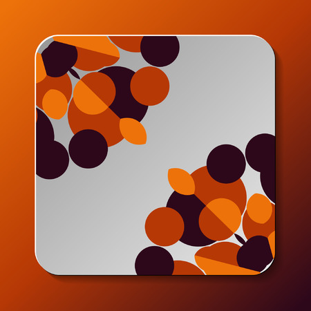 Abstract geometry background on white square. Vector illustration. Illustration