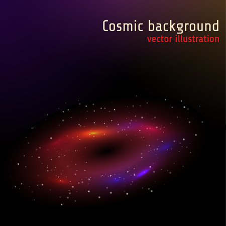 Space background. Vector illustration EPS10.