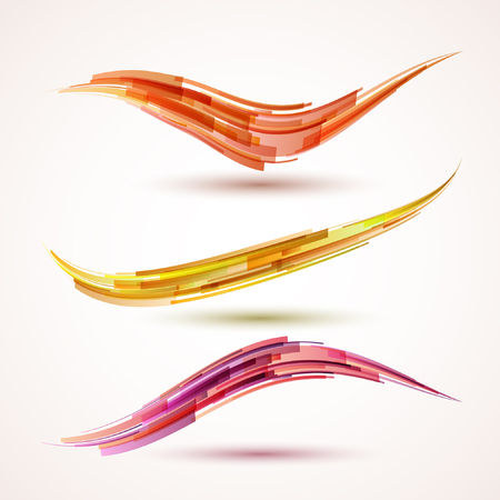 Abstract bright design elements. Vector illustration. 矢量图像