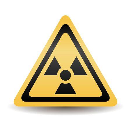 Nuclear sign. Vector illustration.