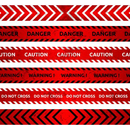 Set of hazard signs. Vector illustration.
