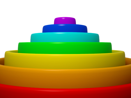 3d rainbow circles