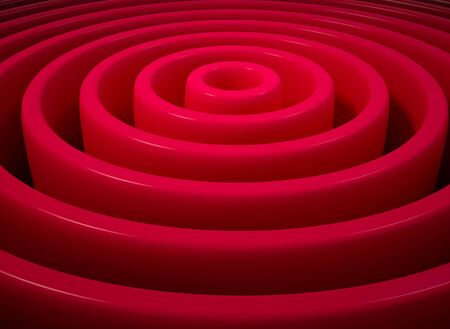 Red 3d concentric circles