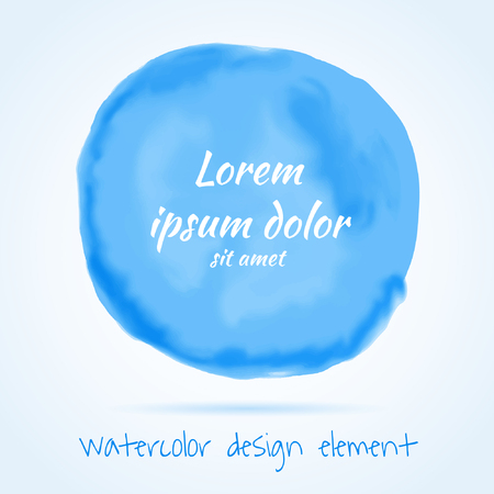 Digital blue paint stain. Vector illustration.