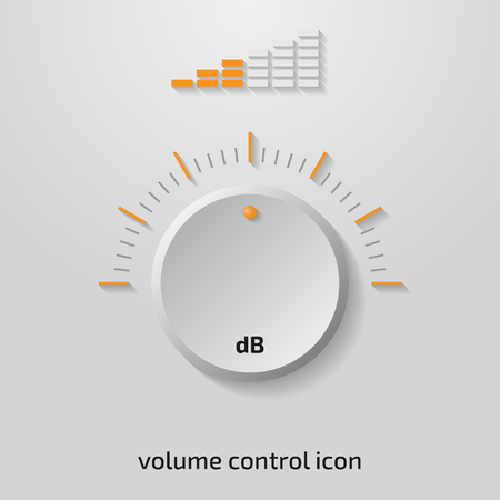 Clean 3d volume control design. Vector illustration.