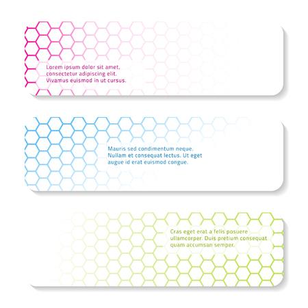 Set of geometric banner design. Vector illustration.  イラスト・ベクター素材