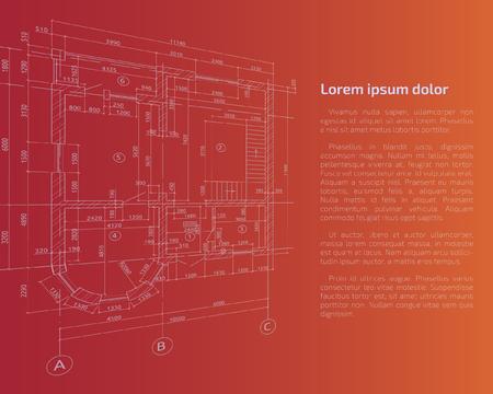 Architectural diagram background. Vector illustration. Illustration