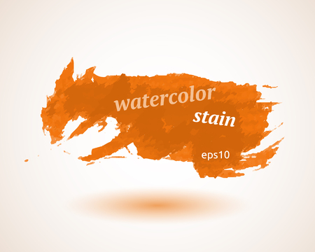 Abstract watercolor stain design Illustration