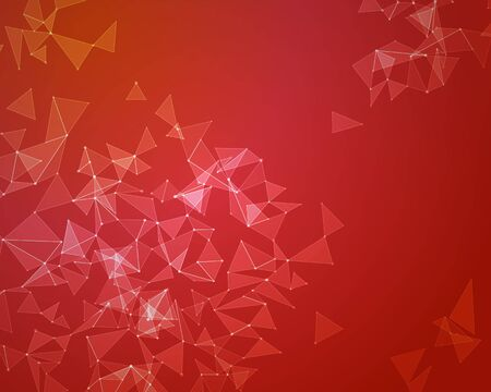 Abstract background with transperent triangles. Vector illustration. Foto de archivo - 96310477