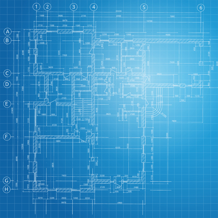 Blue Architectural background. Vector illustration. Illustration