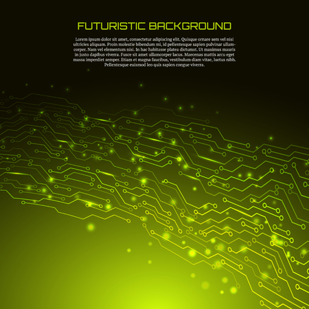 Circuit board vector illustration. Futuristic background.