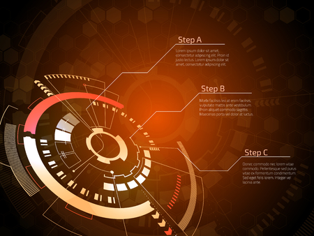 Sci fi futuristic user interface. Vector illustration. Imagens - 96654876