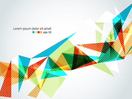 Abstract triangular geometric vector illustration.