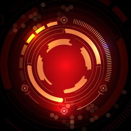 Sci fi futuristic user interface Vector illustration. Illustration