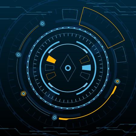 Sci fi futuristic user interface Vector illustration. Ilustrace