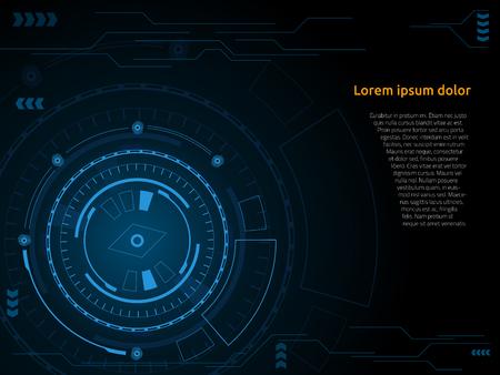 Sci fi futuristic user interface Vector illustration. Ilustração