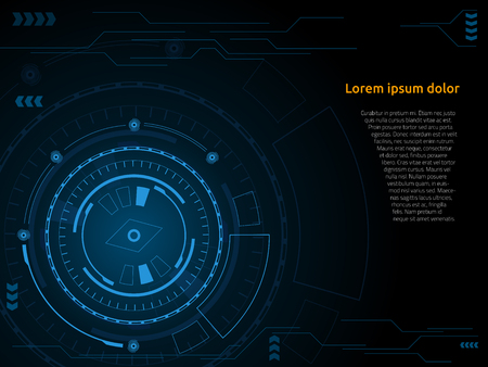 Sci fi futuristic user interface Vector illustration. Illustration