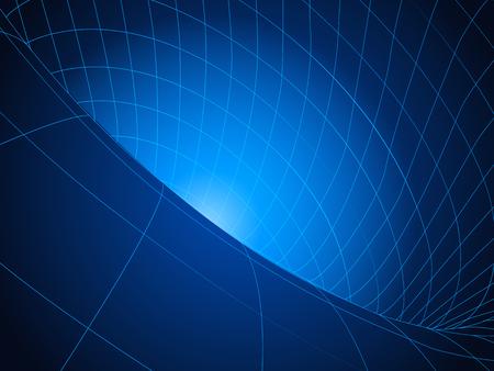 Blaues Loch mit Drahtgitter. Vektor-illustration